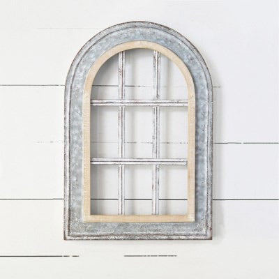 Tin Arch Window Frame