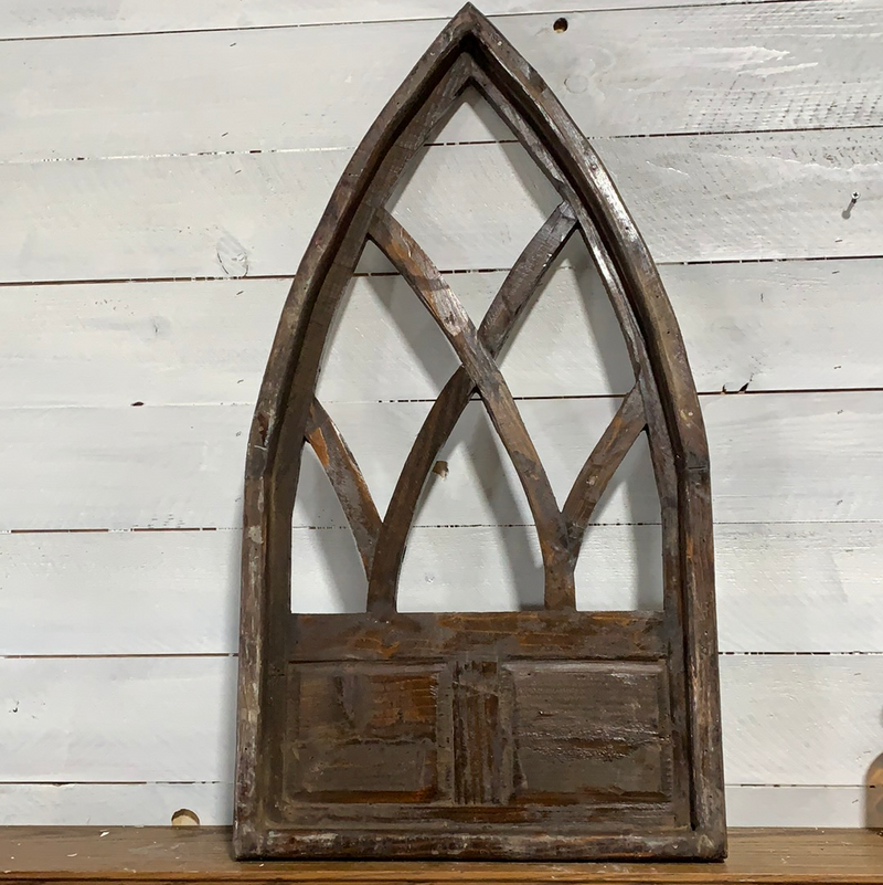 Cathedral wood window