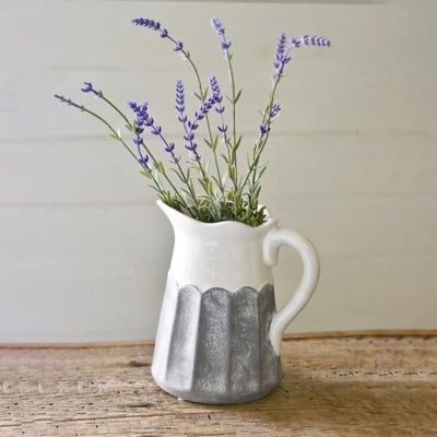 GREY WHITE PITCHER