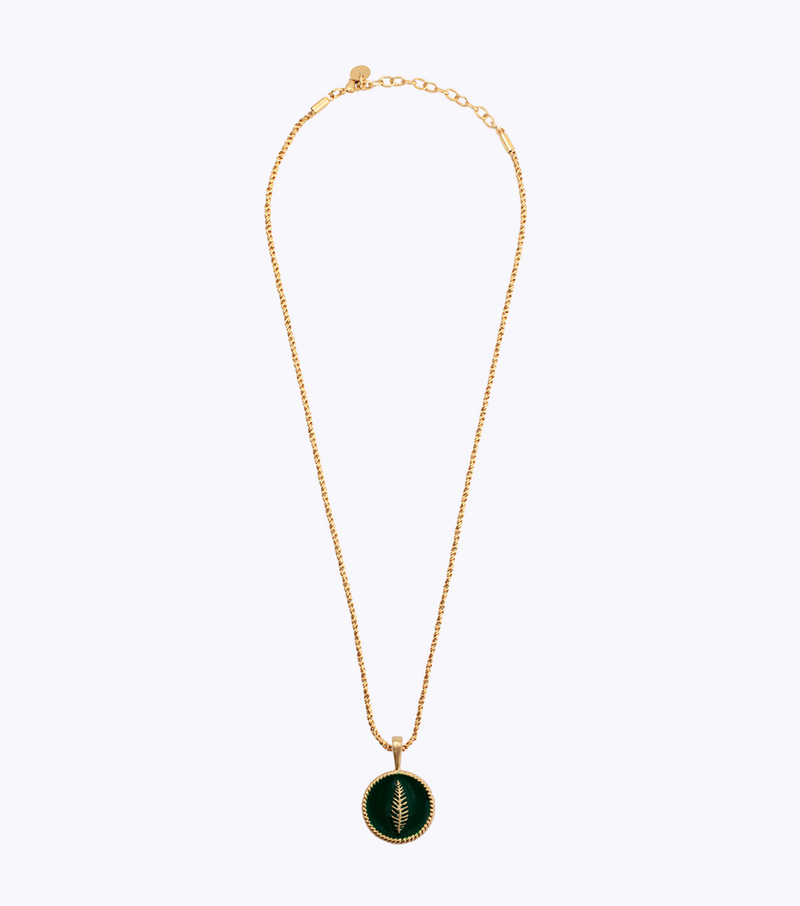 Fern Coin Long Necklace