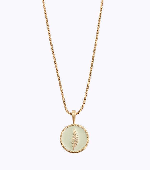Fern Coin Necklace