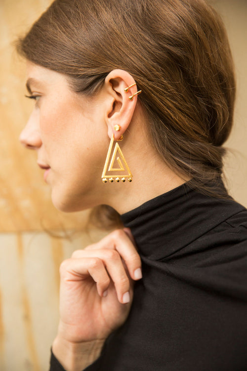 Triad Medium Earrings