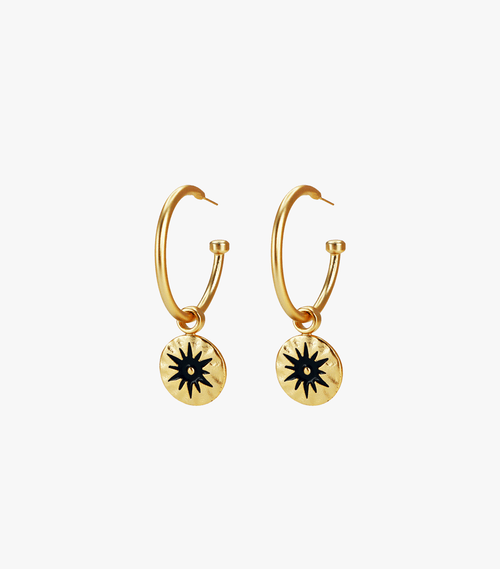 Shine Medium Hoops