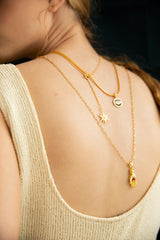 Heart in Hand Oblong Chain Necklace