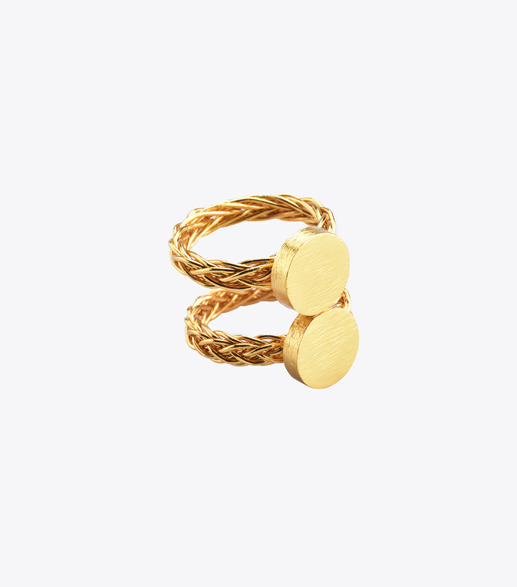 Coin Double Ring