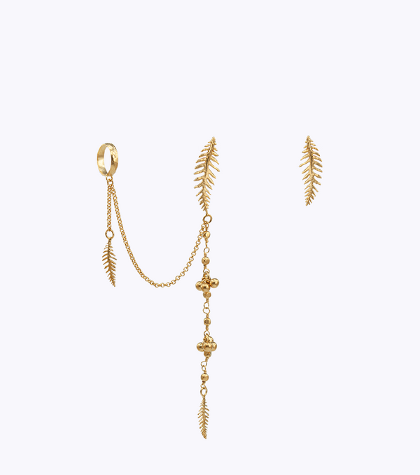 Fern Long Earcuff