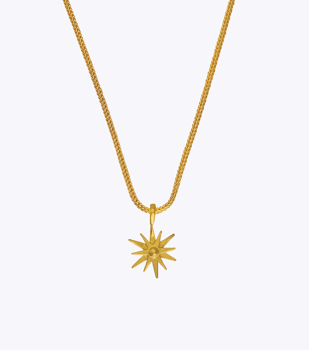 Starburst Snake Chain Necklace