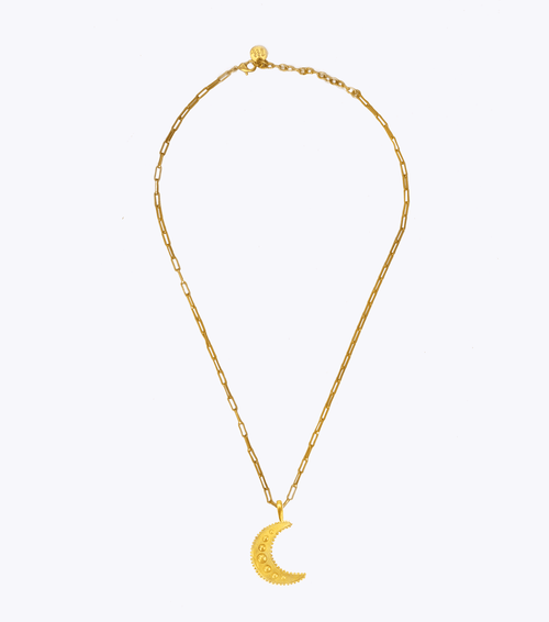 Moonlight Oblong Chain Necklace