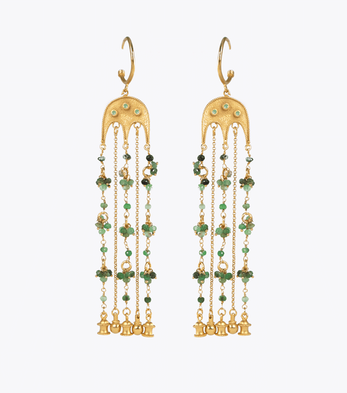 Bayt Agate Chain Earrings