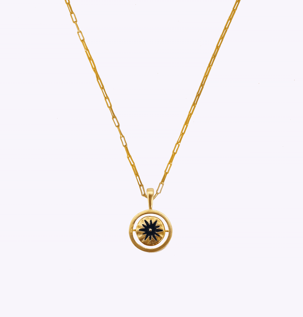 Shine Oblong Swivel Necklace