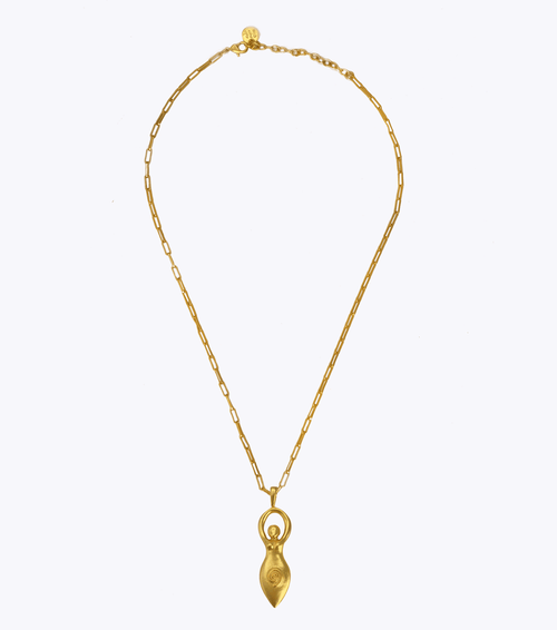 Life Goddess Oblong Long Necklace