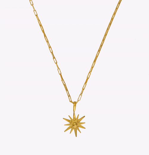 Starburst Oblong Chain Necklace