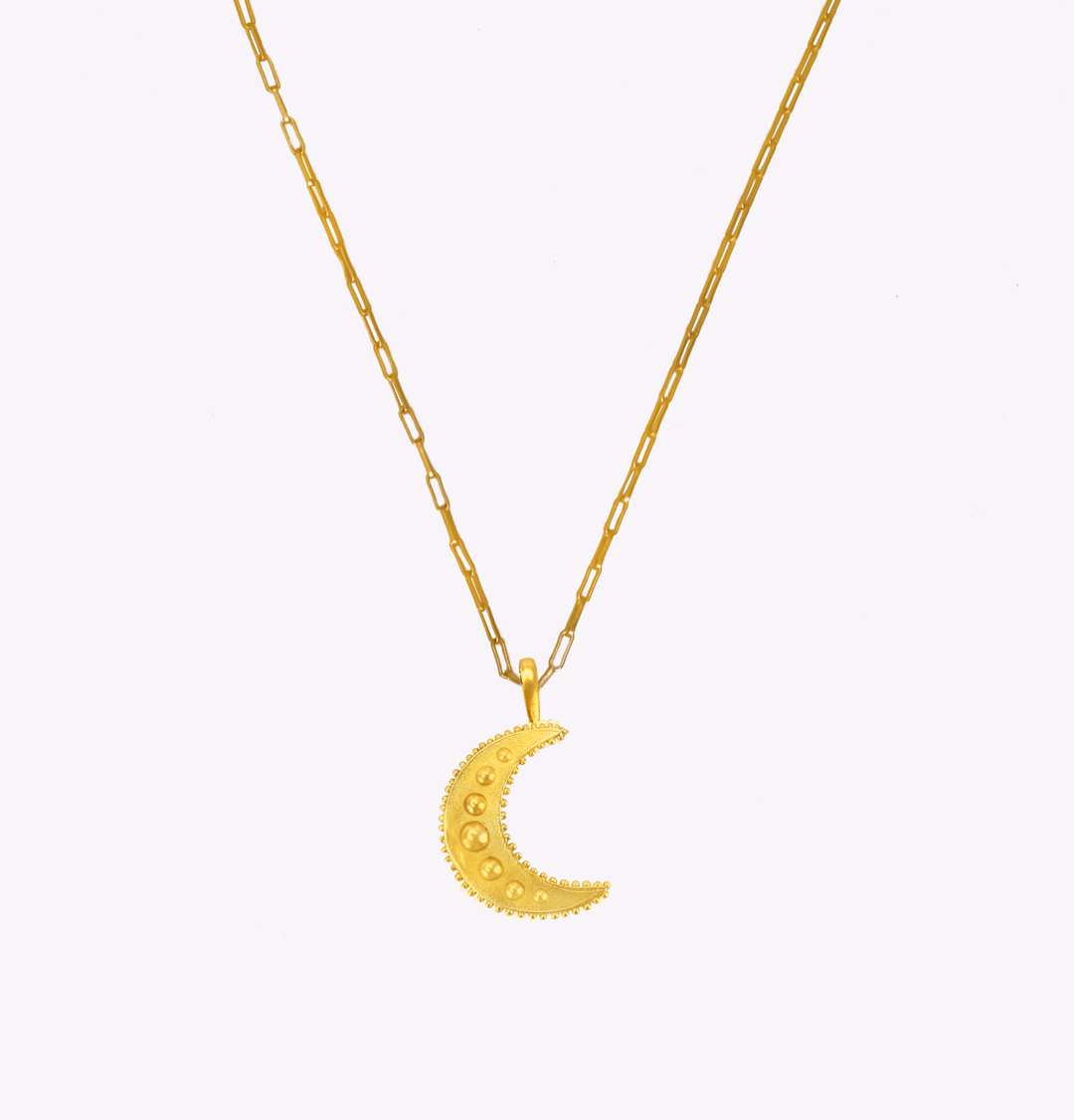 Moonlight Oblong Long Chain Necklace