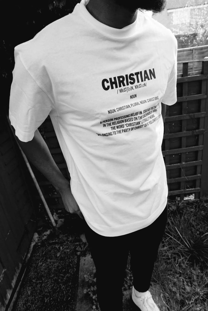 DEFINE CHRISTIAN Unisex Oversized T-Shirt (White)