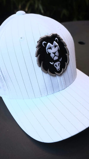 LION AND LAMB Pinstripe Snapback (White)