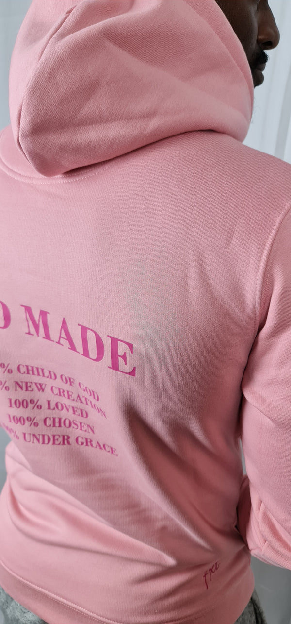 Unisex God Made w/ Print on Back Hoodie