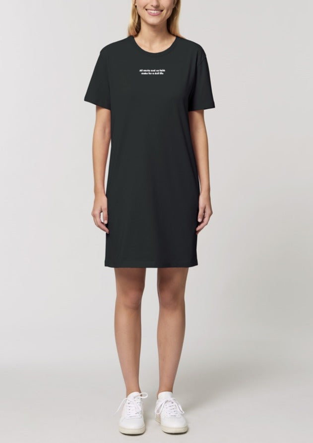 The Women's Proverbs Black T-Shirt Dress