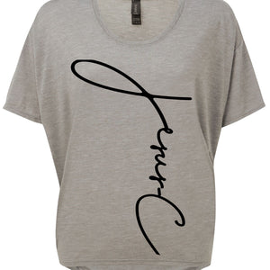 Womens JC Loose flowt T-Shirt S/S