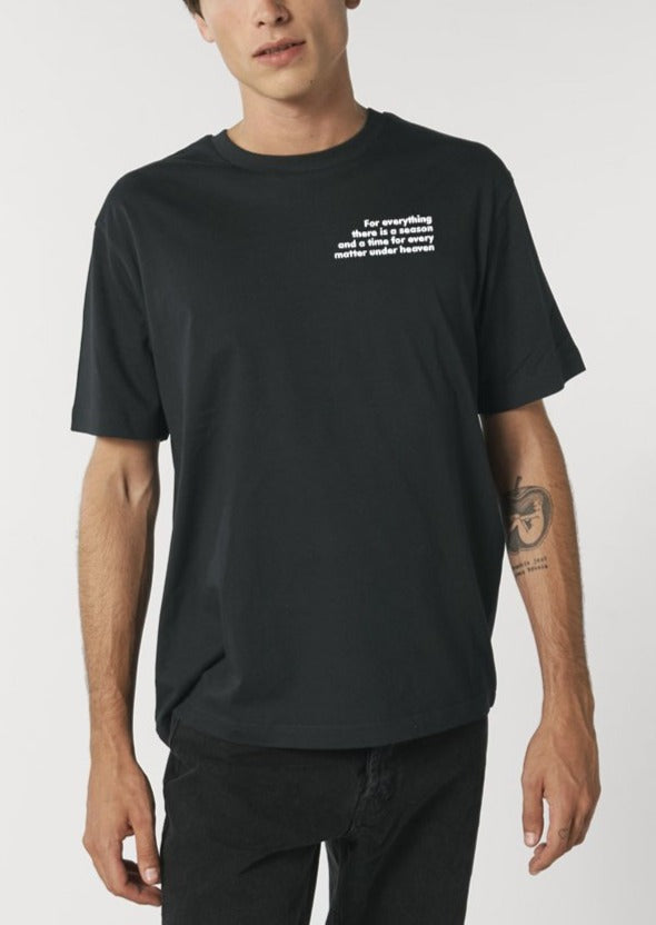 The Proverbs Unisex Black Relaxed T-Shirt