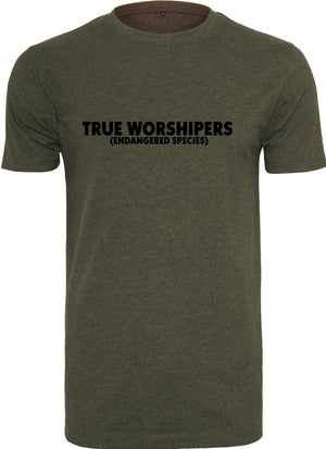 TRUE WORSHIPER Round Neck T-Shirt (Olive)