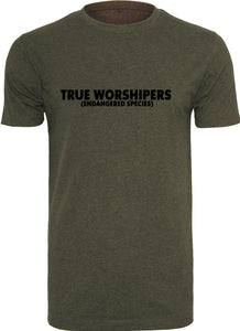 Men's TRUE WORSHIPER Round Neck T-Shirt (Olive)