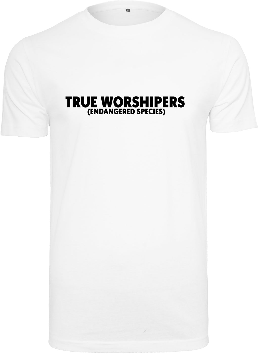 Men's TRUE WORSHIPER Round Neck T-Shirt (White)