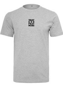 Men's TRUST GOD Round Neck T-Shirt (Grey)