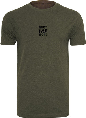 TRUST GOD Round Neck T-Shirt (Olive)