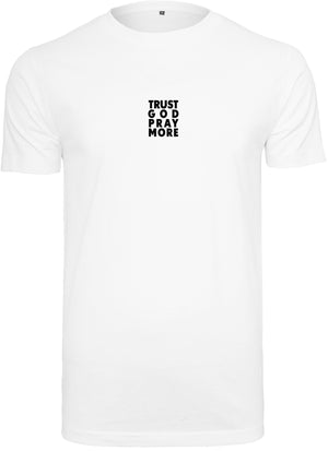 Men's TRUST GOD Round Neck T-Shirt (White)