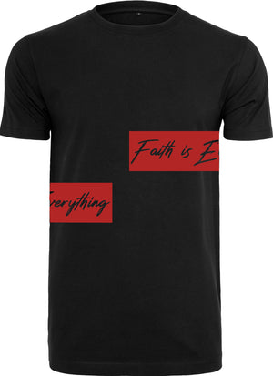 FAITH IS EVERYTHING CREW NECK T-SHIRT (BLACK)