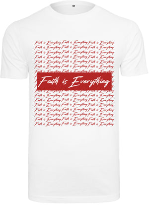FAITH IS EVERYTHING PTRN CREW NECK T-SHIRT (WHITE)