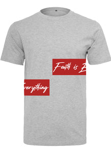FAITH IS EVERYTHING CREW NECK T-SHIRT (H GREY)