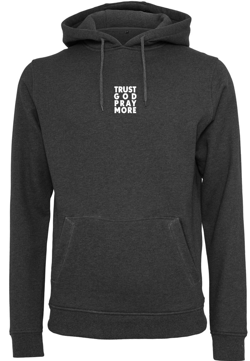 Unisex TRUST GOD Pullover Hoodie (Charcoal)