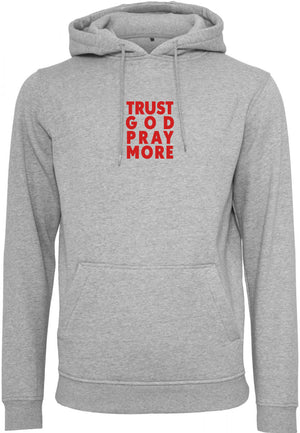 TRUST GOD Pullover Hoodie (Heather Grey)