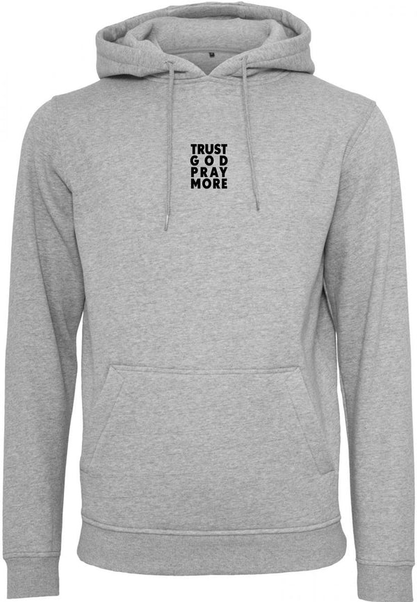 Unisex TRUST GOD Pullover Hoodie (Grey)