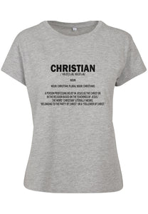 Womens DEFINE CHRISTIAN Boxy Tee (Heather Grey)