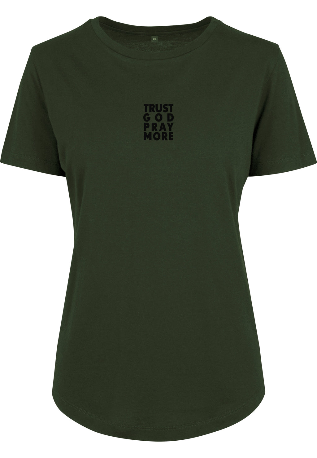Womens TRUST GOD Fitted Tee (Olive)