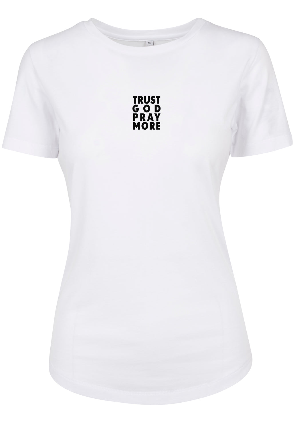 Womens TRUST GOD Fitted Tee (White)