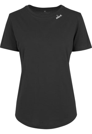Womens ALIVE Fitted Tee (Black)