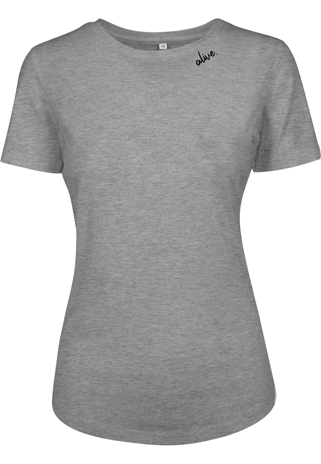 Women's ALIVE Fitted Tee (H. GREY)