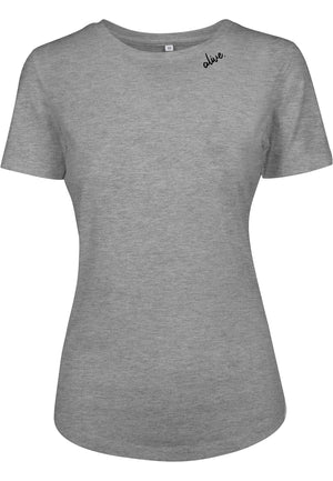 Womens ALIVE Fitted Tee (HEATHER GREY)