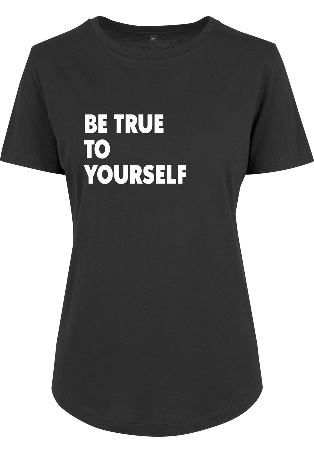 Womens BE TRUE Fitted Tee (Black)