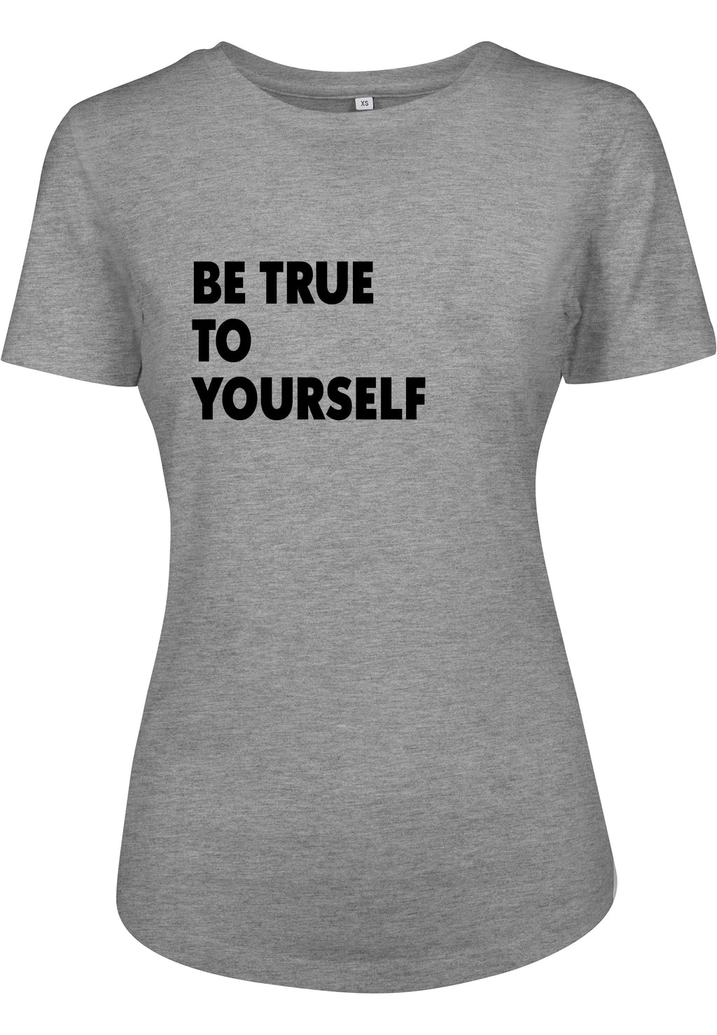 Womens BE TRUE Fitted Tee (Heather Grey)