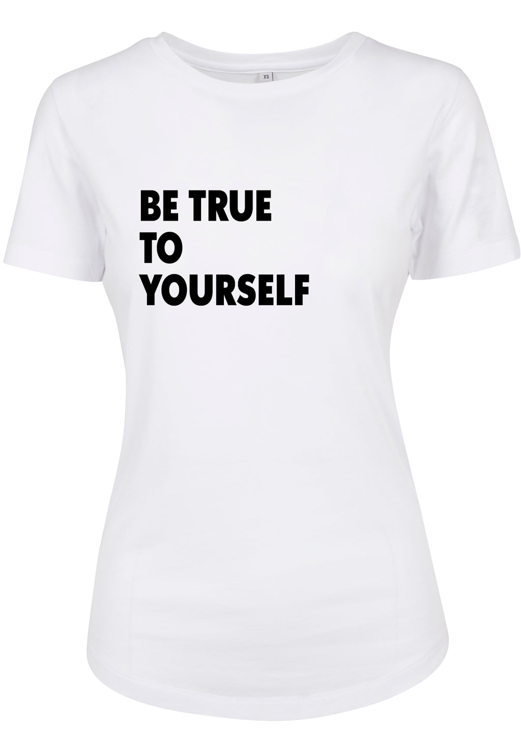 Womens BE TRUE Fitted Tee (White)