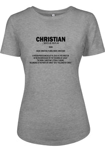 Womens DEFINE CHRISTIAN Fitted Tee (Grey)