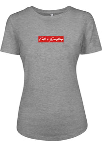 Women's FAITH IS EVERYTHING FITTED T-SHIRT (H.GREY)