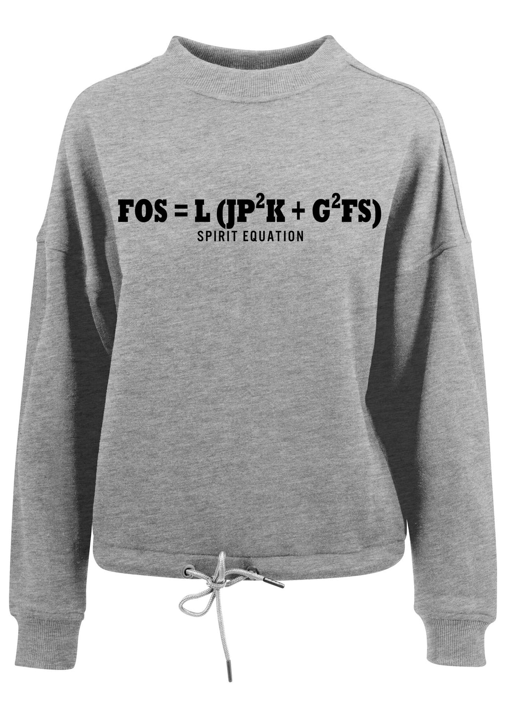 Womens SPIRIT EQUATION Oversized Crew Neck Sweatshirt (Heather Grey)