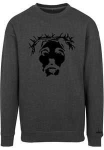 THE SAVIOUR Sweatshirt (Charcoal with Black)