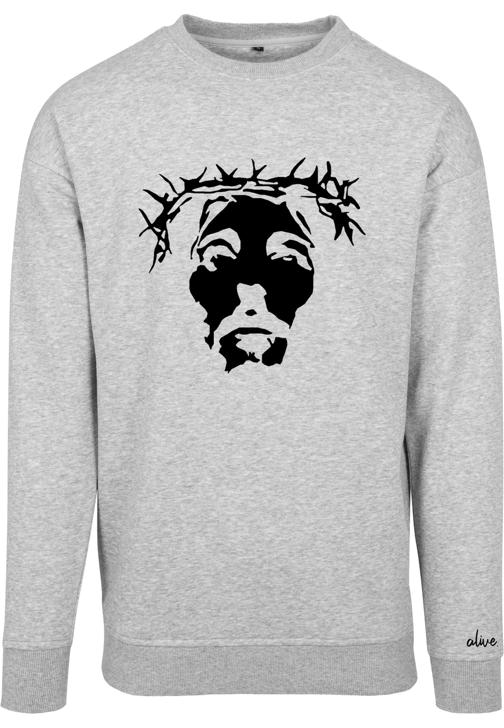 THE SAVIOUR Sweatshirt (Heather Grey with Black)