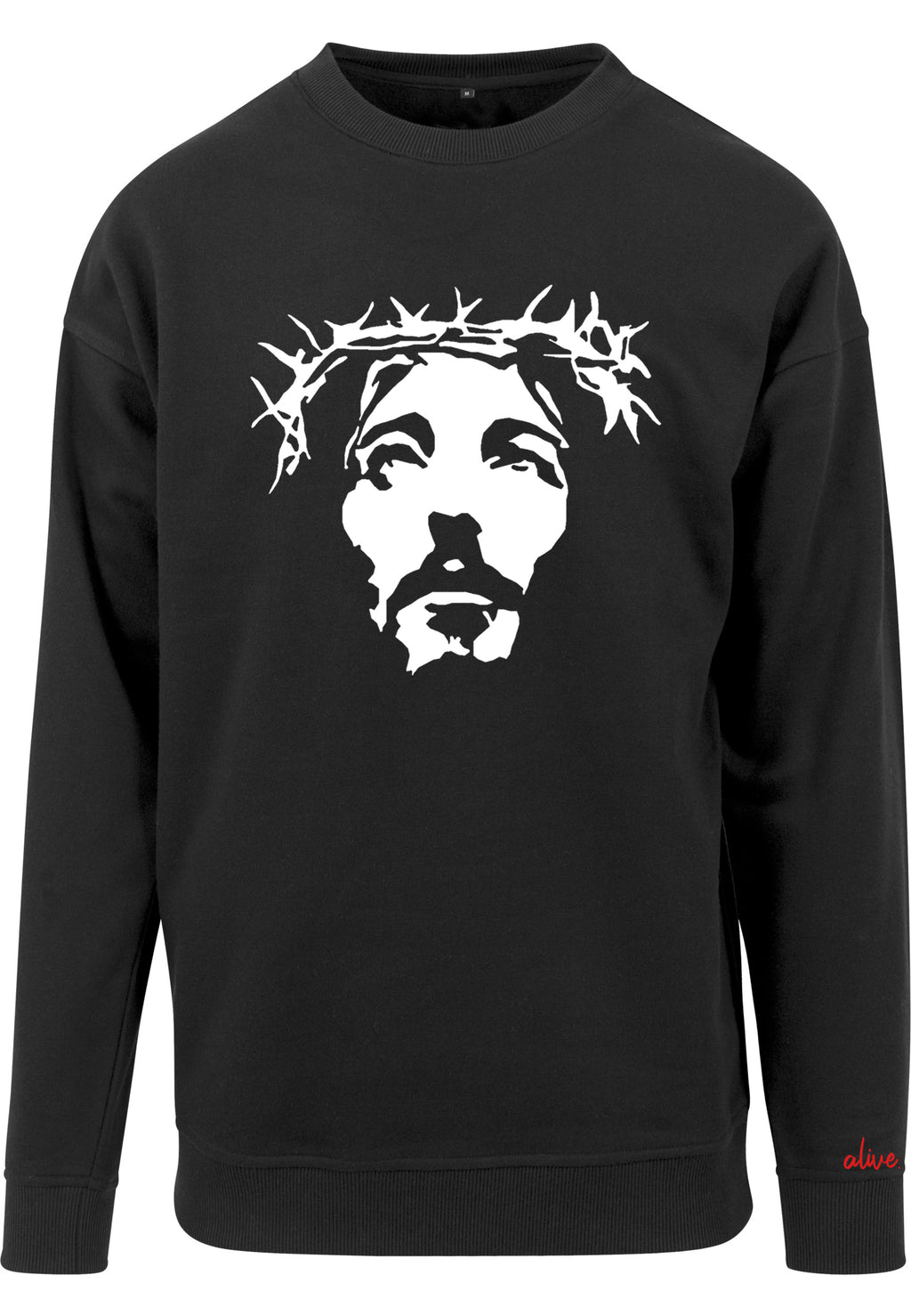 THE SAVIOUR Sweatshirt (Black with White)